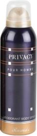 Rasasi Privacy Pour Homme Deodorant Spray  -  200 Ml - For Men