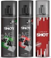 Layer'R Shot Vive, Fury, Red Stailian Fragrance Body Spray Deodorant Spray  -  For Men (135 Ml)