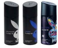 Playboy PBMPO3-PLAYBOY Pk Of 3 Men Deos 450ml(PBMPO3) Body Spray  -  For Men (450 Ml)