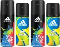 Adidas Team Five & Get Ready Deodorant Spray  -  For Men (150 Ml)