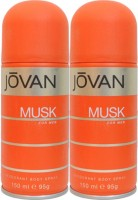 Jovan Musk Deodorant Spray (Pack Of 2) Body Mist - 300 Ml (For Men)