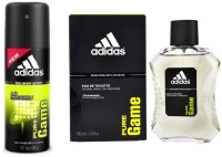Adidas The Pure Game Combo Body Spray  -  For Boys, Men (250 Ml)