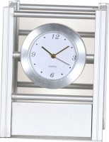 Sonic P1 1 Compartments Metal Pen Stand With Clock And Photoframe (Silver)