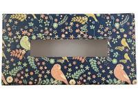 The Crazy Me 1 Compartments Eco-Friendly Leatherette Tissue Box Holder (Multicolor)