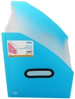 Solo 13 Compartments Polypropylene Plastic Desktop Expanding Document Holder (Frosted Blue)