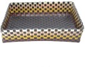 Shraddha Collections Jute 1 Compartments Plastic Tray - Brown - DKOE2CA5HNJ8HDS8