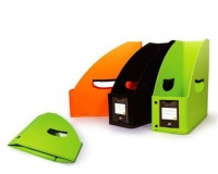Y.E.S Executive Series 1 Compartments Polypropelene Foldable Magazine Holder (Green, Black, Orange)
