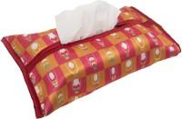 Mad(e) In India 1 Compartments Micro Poly Crepe Sateen Tissue Box Cover (Multicolor)