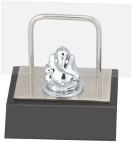 Excelencia Modern Office 1 Compartments Metal Cute Ganesha With Visiting Card Holder (Silver)