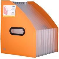 Solo 13 Compartments Polypropylene Plastic Desktop Expanding Document Holder (Frosted Orange)