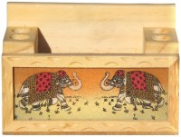 Handicrafts Paradise GSWW 1 Compartments Wooden Penholder And Mobile Holder (Multicolor) - DKOE7SVE4CCFDHJ8