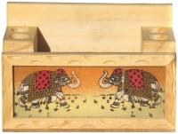Handicrafts Paradise GSWW 1 Compartments Wooden Penholder And Mobile Holder (Multicolor) - DKOE7SVE4CCFDHJ8