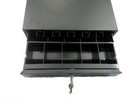 PIXEL 10 Compartments PLASTIC CASH DRAWER (BLACK)