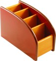 Radius In YS 4 Compartments Wooden Pen Stand - Brown