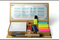 Rapid 6 Compartments Card Board Eco Friendly Stationery Kit (light Brown)