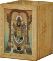 Rangsthali RWDN00022-7 1 Compartments Wooden Pen Stand - Brown