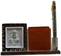 UFC Mart Ufc1hcf565 1 Compartments Glass Mobile And Pen Stand (Silver)