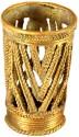 Villcart Art 1 Compartments Bell Metal Pen Stand - Golden