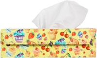 The Crazy Me 1 Compartments Eco Friendly Lethratte Tissue Holder (Multicolor)