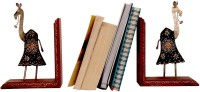 Cocovey Bookend 2 Compartments Wooden Book End (Multicolor)