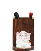 SR Crafts 1 Compartments Wooden, Fiber Pen Stand (Multicolor)