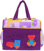 Ole Baby Big Amazing Cotton Smart Organizer Best Material 100% Cotton, Multi-function Tote Diaper Bag (Purple)