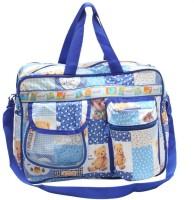 Bazaar Pirates Teddy Bear Print Mother's Diaper Cum Utility Bag (Blue)