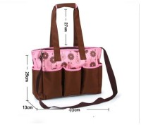 T-Bags Mommy And Baby Brown And Pink Messanger Diaper Bag (Pink, Brown)