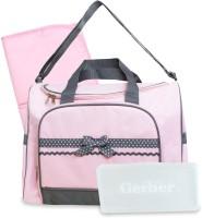 Baby Bucket Gerber Duffel Style Diaper Tote Bag Purse (Pink)
