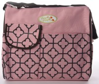 Baby Bucket Carters With Sqaure Print Mummy Diaper Bag Purse (Pink)