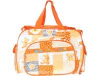 Bazaar Pirates Teddy Bear Print Mother's Diaper Cum Utility Bag (Orange)