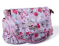 Baby Bucket Mes Enfants Baby Changing Cute Flower Design Mummy Backpack Diaper Bag (Pink)
