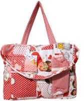 MyAngel Teddy Dotted Print Tote Diaper Bag (Red)