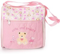 Baby Bucket Square Multiutility Cute Embroidered Diaper Bag Diaper Bag (Pink)