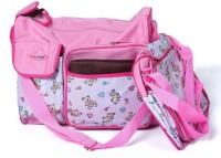 Baby Bucket Nappy Mummy Bag Maternity Handbag Changing Colorland 3pcs/set Diaper Bag (Pink)
