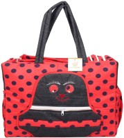Ole Baby Big Multi-Utility Amazing Polka Dot Fabric Diaper Bag (Red)
