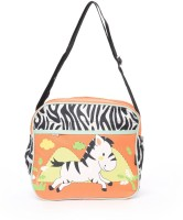 Baby Bucket Bebesitos Nursery Mummy Diaper Tote- Zebra Print -Bag Purse (Orange)