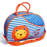 Baby Bucket Lion The Boss Embroidery Backpack Diaper Bag (Blue)