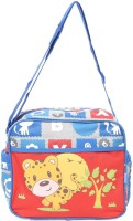 Baby Bucket Babesitos Nursery Mummy Diaper Tote- Little Cat Print - Bag Purse (Blue)