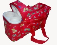 Babyofjoy Mix Baby Print Tote Diaper Bag And Bottle Warmer Attached (Red)
