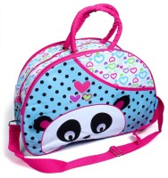 Baby Bucket Diaper Bag Panda Embroidery (Blue) Purse (Blue)