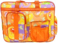 Ole Baby Big Multi-Utility Amazing Abstract Fabric Diaper Bag (Orange)