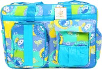 Ole Baby Big Multi-Utility Amazing Abstract Fabric Diaper Bag (Blue)