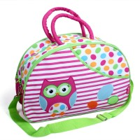 Baby Bucket Diaper Bag Owl Embroidery Purse (Pink)