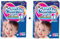 MAMY POKO EXTRA ABSORB PANT STYLE DIAPERS ( SET OF 02 PACKS OF 56 PCs) - MEDIUM (112 Pieces)