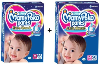 MAMY POKO EXTRA ABSORB PANT STYLE DIAPERS - MEDIUM (56 Pieces)