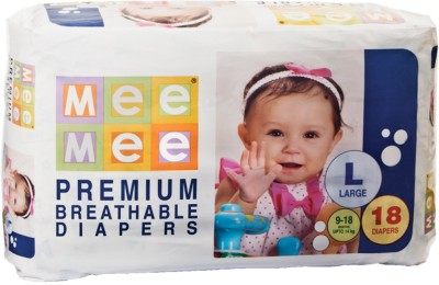 Mee Mee Premium Breathable Diapers - Large (18 Pieces)