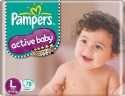 Pampers Active Baby Diapers Taped Large Size: Diaper
