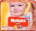 Huggies Dry Diaper - Medium - 62 Pieces