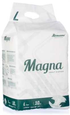 Romsons Magna Adult Diapers - Large (10 Pieces)